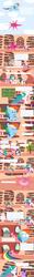 Size: 1200x9760 | Tagged: safe, artist:unassuminguser, applejack, bloomberg, fluttershy, pinkie pie, princess celestia, rainbow dash, rarity, rocky, tom, twilight sparkle, comic, kitchen sink, mane six, rainbowsink, raincloud