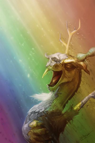 483207 - artist:assasinmonkey, discord, rainbow, safe, scene
