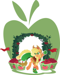 Size: 4080x5076 | Tagged: safe, artist:rariedash, applejack, earth pony, pony, absurd resolution, apple, clothes, cowboy hat, cutie mark, dress, female, gala dress, hat, hooves, lineless, mare, open mouth, saddle, simple background, solo, tack, transparent background