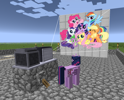 Size: 1089x882 | Tagged: alicorn, female, mare, minecraft, mine little pony, mod, pony, safe, slideshow, twilight sparkle, twilight sparkle (alicorn)