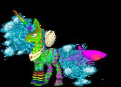Size: 1400x1000   Tagged: safe, artist:pixelatedv, oc, oc only, alicorn, pony, shark, alicorn oc, donut steel, haters gonna hate, joke oc, leg warmers, meme, psychedelic, queen aquabutt rainbowcoat eyesoring neon the hundrenth, solo