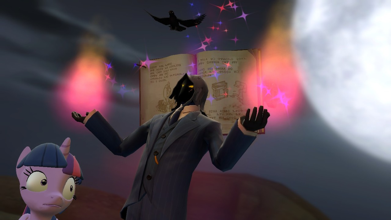 464040 - 3d, artist:fezwearingdoctor, book, gmod, halloween, magic