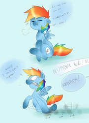 Size: 2480x3425   Tagged: safe, artist:theponybox696, rainbow dash, pegasus, pony, sonic rainboom (episode), comic, desperation, female, full bladder, mare, need to pee, omorashi, potty dance, potty emergency, potty time, scrunchy face, trotting in place