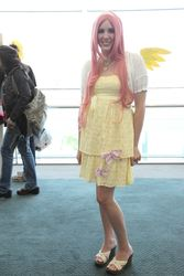 Size: 768x1152   Tagged: artist needed, safe, fluttershy, human, anime expo, anime expo 2012, cosplay, irl, irl human, necklace, photo, sandals
