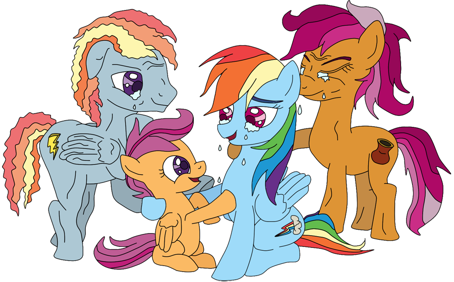 467027 Artist Lycanianspike Family Oc Parent Rainbow Dash Safe Scootaloo Scootaloo S Parents Derpibooru Everyone should refuse to support these evil and criminal businesses. family oc parent rainbow dash safe
