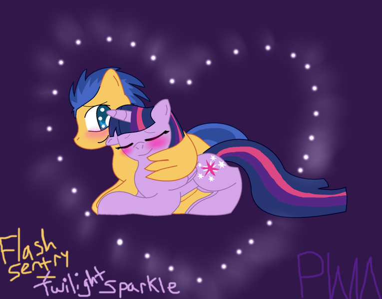 My little pony princess twilight sparkle and flash sentry kiss