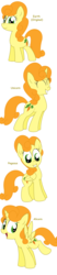 Size: 1036x5024 | Tagged: alicorn, alicornified, all pony races, artist:pupster0071, carrotcorn, carrot top, golden harvest, pegasus, pony, race swap, safe, unicorn