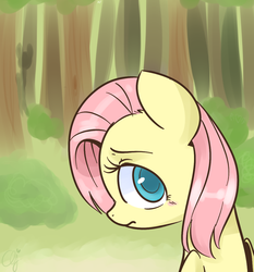 Size: 919x988 | Tagged: safe, artist:inkie-heart, fluttershy, alternate hairstyle, female, short hair, short mane, slendermane, slenderpony, solo, when you see it