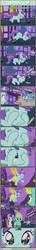 Size: 1063x7362 | Tagged: safe, artist:tritebristle, apricot bow, blues, bon bon, liza doolots, lyra heartstrings, noteworthy, orchid dew, petunia, sea spray, sweetie drops, tootsie flute, comic:heartstrings, comic, hand, magic