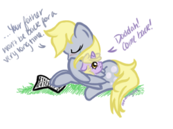 Size: 1185x880 | Tagged: artist:perseveringrose, crying, derpy hooves, dialogue, dinky hooves, equestria's best daughter, equestria's best mother, feels, female, letter, mare, paper, pegasus, pony, right in the feels, sad, safe, the feels