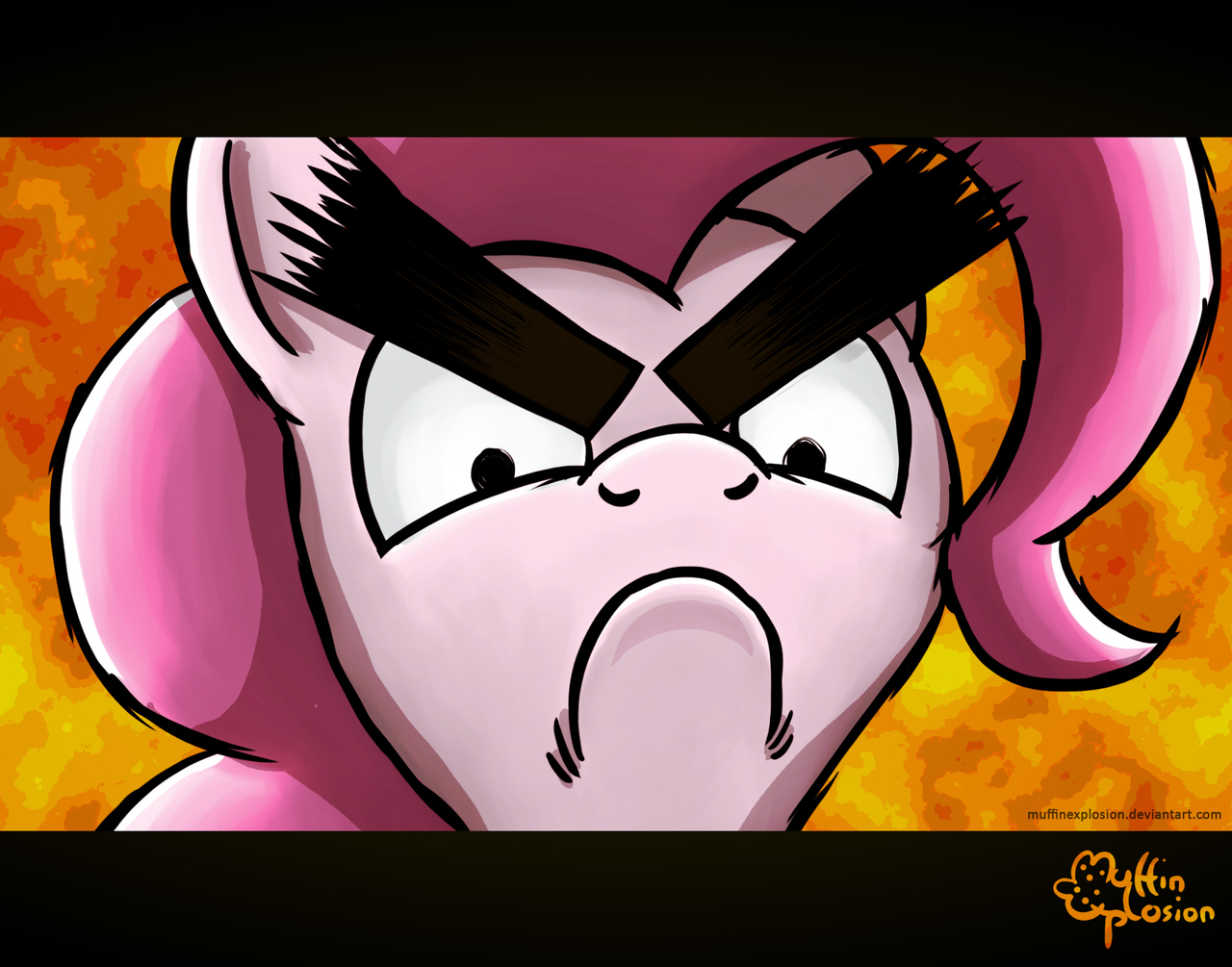 500235 Artistmuffinexplosion Eyebrows Flcl Pinkie Pie Safe