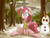 Size: 1024x768 | Tagged: artist:umeguru, clothes, earth pony, female, forest, mare, open mouth, pinkie pie, pony, safe, scarf, snow, snowfall, snowman, solo, tree, wings