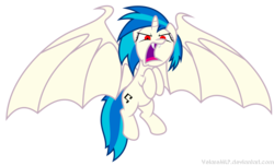 Size: 4652x2837 | Tagged: safe, artist:velaremlp, dj pon-3, vinyl scratch, alicorn, bat pony, bat pony alicorn, pony, unicorn, bat ponified, bat wings, cutie mark, fangs, female, hooves, horn, large wings, mare, open mouth, race swap, simple background, solo, spread wings, teeth, transparent background, vector, vinylbat, vinylcorn, wings