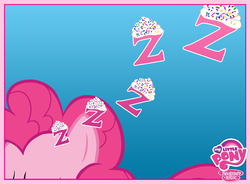 Size: 720x531 | Tagged: dream, frosting, letter, my little pony logo, official, pinkie pie, safe, sleeping, solo, sprinkles, z, zzz