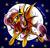 Size: 1272x1218   Tagged: safe, artist:frostykat13, fluttershy, bat pony, pony, bats!, fangs, female, flutterbat, moon, race swap, solo, stars, traditional art