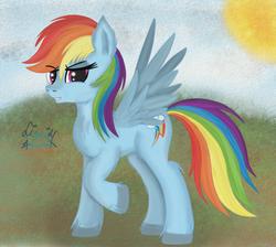Size: 1099x983 | Tagged: safe, artist:liquidarrow-x, rainbow dash, solo