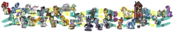 Size: 9916x1888 | Tagged: safe, artist:wolframclaws, ace, amethyst star, berry punch, berryshine, blossomforth, blues, bon bon, bulk biceps, caramel, carrot top, cherry jubilee, cloudchaser, derpy hooves, dinky hooves, dj pon-3, doctor whooves, dumbbell, flitter, golden harvest, hoops, lucky clover, lyra heartstrings, minuette, noteworthy, nurse redheart, octavia melody, pokey pierce, pound cake, pumpkin cake, quarterback, roid rage, sparkler, sunshower raindrops, sweetie drops, thunderlane, time turner, twist, vinyl scratch, wild fire, pegasus, pony, female, mare, night guard, simple background, transparent background