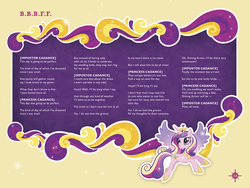 Size: 3300x2479 | Tagged: safe, princess cadance, bbbff, error, fail, liner notes, lyrics, official, solo, song, song reference, songs of friendship and magic, stock vector, text, this day aria, you had one job