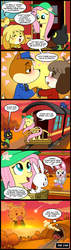 Size: 571x2000 | Tagged: safe, artist:madmax, angel bunny, fluttershy, pig, rabbit, comic:the town, angel is a bunny bastard, animal crossing, baby, blushing, chrissy, comic, copper, crossover, cuffs, digby, end, gay, hat, heart, isabelle, kevin, kiki, love, male, ocean, offspring, parent:angel bunny, parent:chrissy, police, police officer, shipping, shooting star, sonic the hedgehog, sonic the hedgehog (series), speech bubble, straight, sunset, sweat, the end, thought bubble, train, tunnel