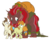 Size: 1280x1050 | Tagged: artist:egophiliac, bow, colt, female, filly, hair bow, king krampus, krampus, male, oc, oc:king krampus, older pound cake, older pumpkin cake, pegasus, pony, pound cake, pumpkin cake, safe, simple background, slice of pony life, tail bow, the lord of aldheim, transparent background, tricorn, tumblr, unicorn