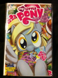 Size: 1936x2592 | Tagged: comic book, derpy hooves, female, idw, mare, merchandise, muffin, pegasus, pony, safe