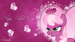 Size: 1920x1080 | Tagged: artist:mackaged, cheerilee, dead source, heart, safe, scrunchy face, valentine's day, vector, wallpaper