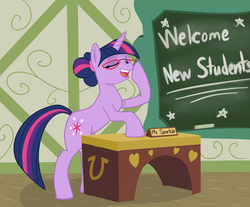 Size: 2703x2239 | Tagged: safe, artist:slipsketch, twilight sparkle, glasses, hilarious in hindsight, teacher