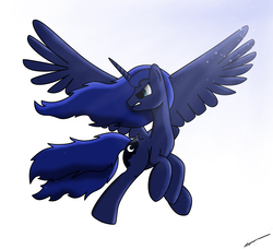 Size: 4200x3827 | Tagged: artist:poshpete117, flying, princess luna, safe, solo