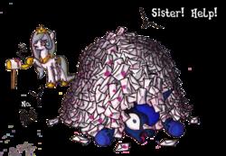 Size: 1342x926 | Tagged: source needed, safe, artist:darkone10, princess celestia, princess luna, depressedia, mail, mailbox, no, open mouth, wide eyes