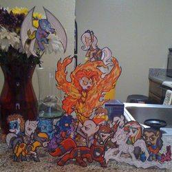 Size: 612x612 | Tagged: safe, artist:dirtreynoldsdfw, archangel, bishop, cable, charles xavier, colossus, cyclops (marvel comics), deadpool, empowered demon, flight, gambit, iceman, jean grey, marvel, mutated pony, neyaphem, nightcrawler, optic blast, paper child, phoenix (marvel comics), ponified, rogue (x-men), shadowcat, storm (marvel comics), the beast (marvel comics), visor, wolverine, x-men