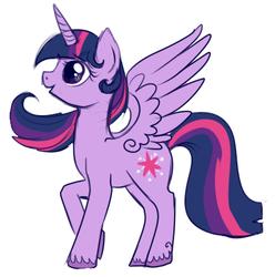 Size: 398x401   Tagged: safe, artist:lulubell, twilight sparkle, alicorn, pony, female, mare, princess, simple background, solo, twilight sparkle (alicorn), white background