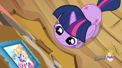Size: 1552x862 | Tagged: safe, screencap, applejack, fluttershy, pinkie pie, rainbow dash, rarity, twilight sparkle, magical mystery cure, both cutie marks, cute, photo, picture, twilight cat