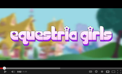 Size: 640x389 | Tagged: alternate universe, artist:zxinsanity, equestria girls, equestria girls logo, equestria girls: the parody series, fake, it begins, meme origin, parody, safe, screencap, youtube, youtube link