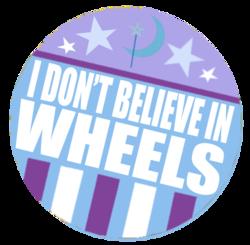 Size: 408x400 | Tagged: safe, trixie, button, i believe in x, wheel, wheels trixie