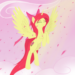 Size: 1000x1000 | Tagged: safe, artist:a-leksey, apple bloom, alicorn, pony, alicornified, bloomicorn, race swap