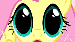 Size: 1280x720 | Tagged: close-up, dilated pupils, exploitable, eyes, fluttershy, magical mystery cure, safe, stare