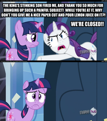 Size: 711x800 | Tagged: hub logo, image macro, insulting rarity, meme, rarity, safe, the princess bride, twilight sparkle