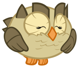 Size: 3394x2938 | Tagged: safe, artist:lahirien, owlowiscious, bird, owl, just for sidekicks, animal, happy, pet, simple background, solo, transparent background, vector