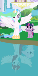 Size: 2160x4320 | Tagged: alicorn, alternate universe, artist:beavernator, female, filly, lauren faust, mare, oc, oc:fausticorn, pony, princess celestia, safe, twilight sparkle, twilight sparkle (alicorn)