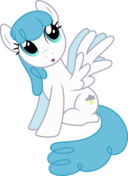 Size: 3574x4922 | Tagged: safe, artist:silvervectors, lightning bolt, white lightning, pegasus, pony, background pony, female, looking up, mare, simple background, sitting, solo, transparent background, vector