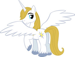 Size: 3846x2920 | Tagged: alicorn, artist:theshadowstone, bluecorn, pony, prince blueblood, safe, simple background, solo, transparent background, vector