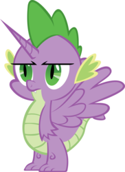 Size: 4377x6000 | Tagged: safe, artist:mrbarthalamul, spike, alicorn, pony, absurd resolution, alicorn spike, alidragon, hilarious in hindsight, prince spike, simple background, transparent background, unamused, vector