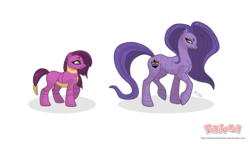Size: 3821x2208 | Tagged: safe, artist:almairis, arbok, ekans, duo, evolution chart, female, filly, foal, long mane, mare, mother and daughter, pokémon, ponified, ponymon, simple background, transparent background