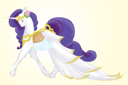 Size: 1000x668 | Tagged: artist:half-pint-hero, clothes, dress, horse, rarity, safe, solo