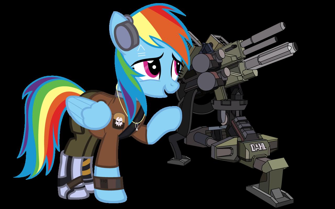 256248 Artist Beavernator Axton Borderlands 2 Commando Crossover Rainbow Dash Safe Turret Derpibooru My Little Pony Friendship