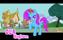 Size: 1100x690 | Tagged: amiga, oc, oc only, olahughson, pony, safe, unicorn