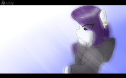Size: 2592x1600 | Tagged: safe, artist:sketchbookfim, rarity, clothes, earring, hoodie, piercing