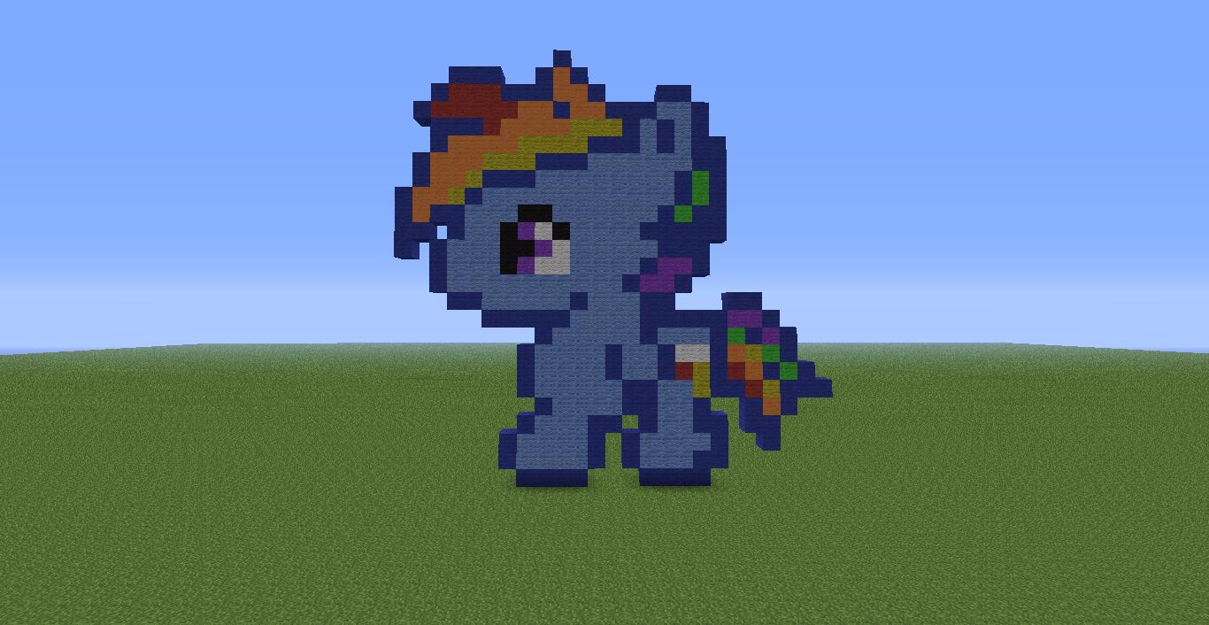 my little pony pixel art minecraft wwwimgkidcom the