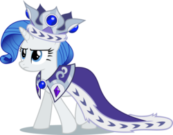 Size: 900x707 | Tagged: safe, artist:parclytaxel, artist:php50, princess platinum, rarity, pony, unicorn, cape, clothes, crown, female, jewelry, mare, regalia, simple background, solo, transparent background, vector