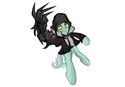 Size: 2215x1530 | Tagged: safe, artist:falloutfire, lyra heartstrings, pony, [prototype], alex mercer, bipedal, claw, claws, clothes, cosplay, crossover, hoodie, parody, simple background, solo, transparent background, vector